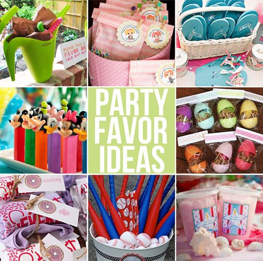 Party favor gift ideas for boys and girls. Love a good party favor!