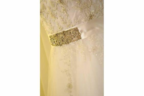 Dress details - i loved all the bling (hehe)