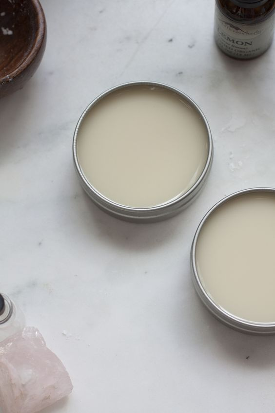 Nourishing and detoxifying DIY deodorant made with coconut oil, shea butter, and essential oils.