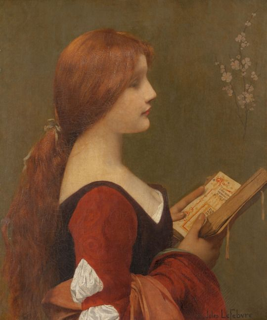 Jeanne la Rousse. Oil on Canvas. Art by Jules Joseph Lefebvre.(1836-1911).: