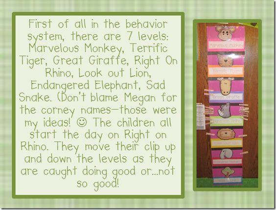 jungle behavior chart...letters, clip art, etc. -- love these ladies!
