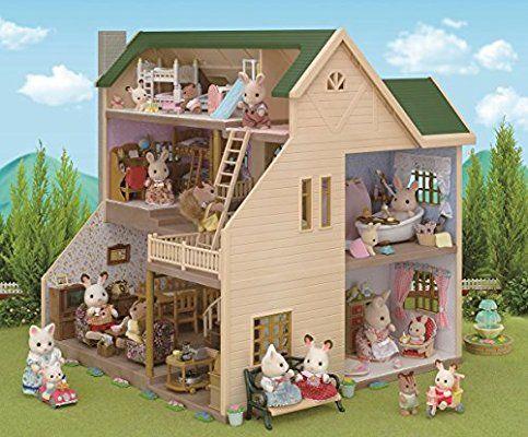 Amazon シルバニアファミリー お家 緑の丘のすてきなお家 ハ 35 おもちゃ おもちゃ シルバニアファミリー おもちゃ ドールハウス