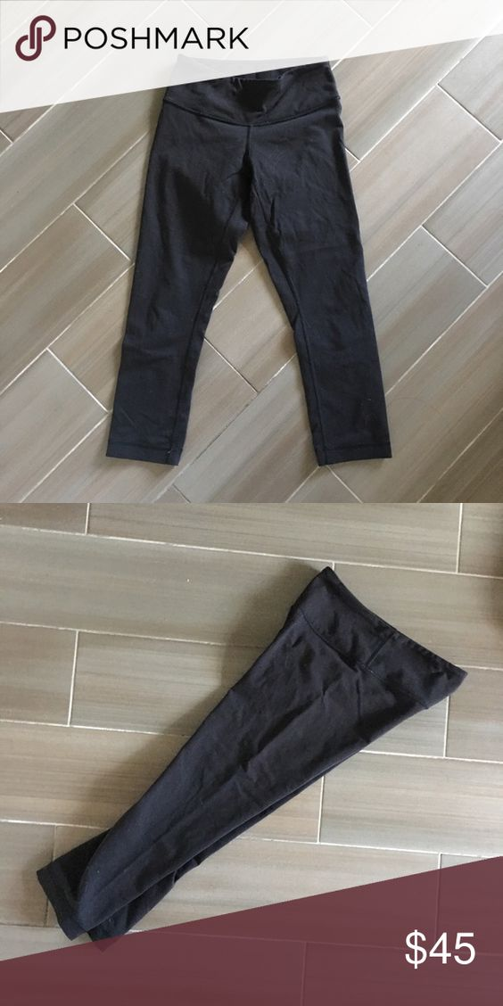 Lululemon crops Black Lululemon crop leggings. Worn once. Ripped off tag. lululemon athletica Pants Capris