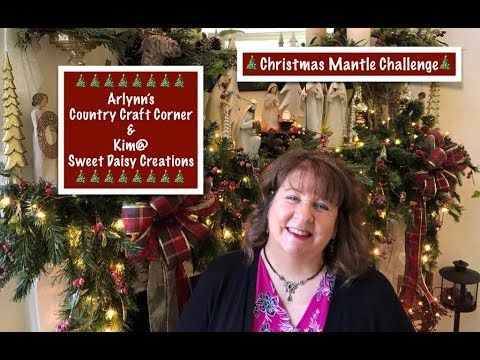 Christmas Mantle Challenge Video Youtube Christmas Mantle Christmas Mantle Decor Christmas Decorations