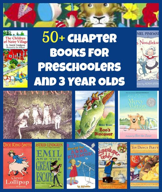 50 chapter books for preschoolers