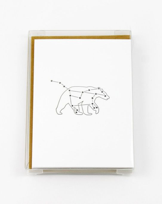 Aw, these constellation cards are adorable! Love the simple illustrations. Set of 6, $18, www.mooreaseal.com