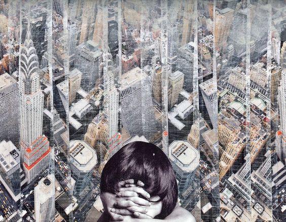 "Saatchi Online Artist: Pavel Brat; Paper, 2009, Assemblage / Collage ""The end"""