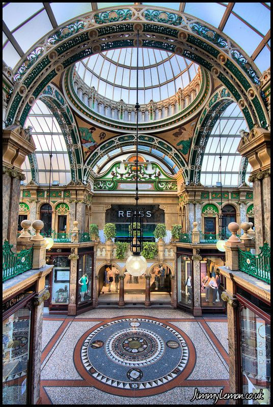 Victoria Quarter Shopping Arcade - one of our favourite places to shop in Leeds.