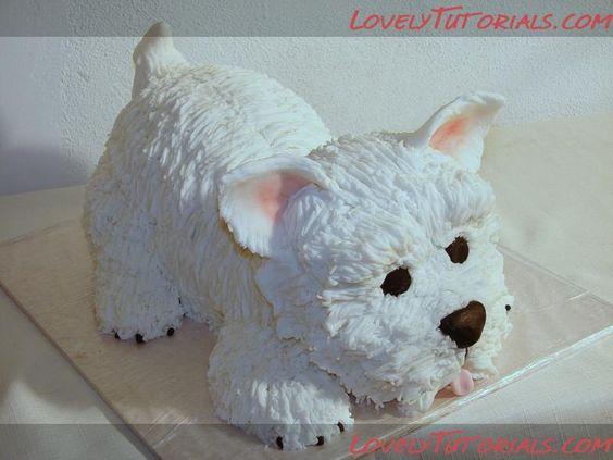3Д Терьер МК Carved Terrier Dog Cake Tutorial Мастер