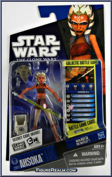 Ahsoka Tano from Star Wars - Clone Wars (2008) - Battle Game Cards manufactured by Hasbro [Front]
