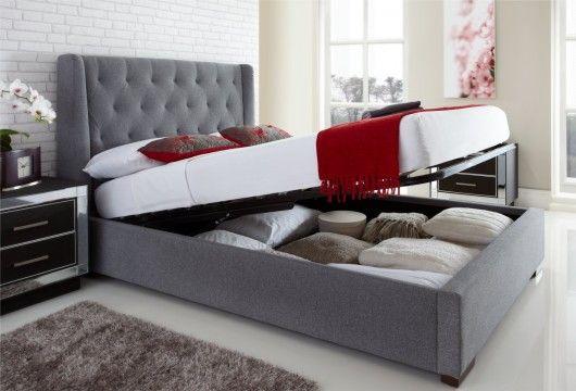Richmond Upholstered Winged Ottoman Storage Bed : £479.00   Apartment  Therapy   Pinterest   Ottoman Storage Bed, Ottoman Storage And Storage Beds
