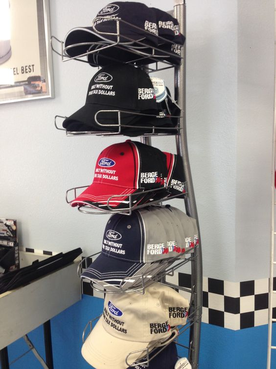 """Custom Made Berge Ford #Hats """" Built Without Your Tax Dollars""""  Call us today (480) 497-7660 #Ford #Fashion #Racing #Sunny #Hot #Summer"""