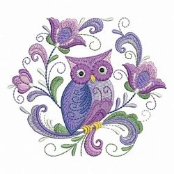 Rosemaling Owl 9 - 4x4   What's New   Machine Embroidery Designs   SWAKembroidery.com Ace Points Embroidery