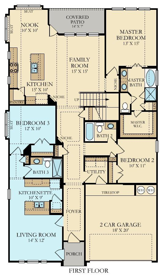 Giallo Ii Home Within A Home New Home Plan In Crescent Bluff Brookstone Ii House Plans New House Plans Small House Plans