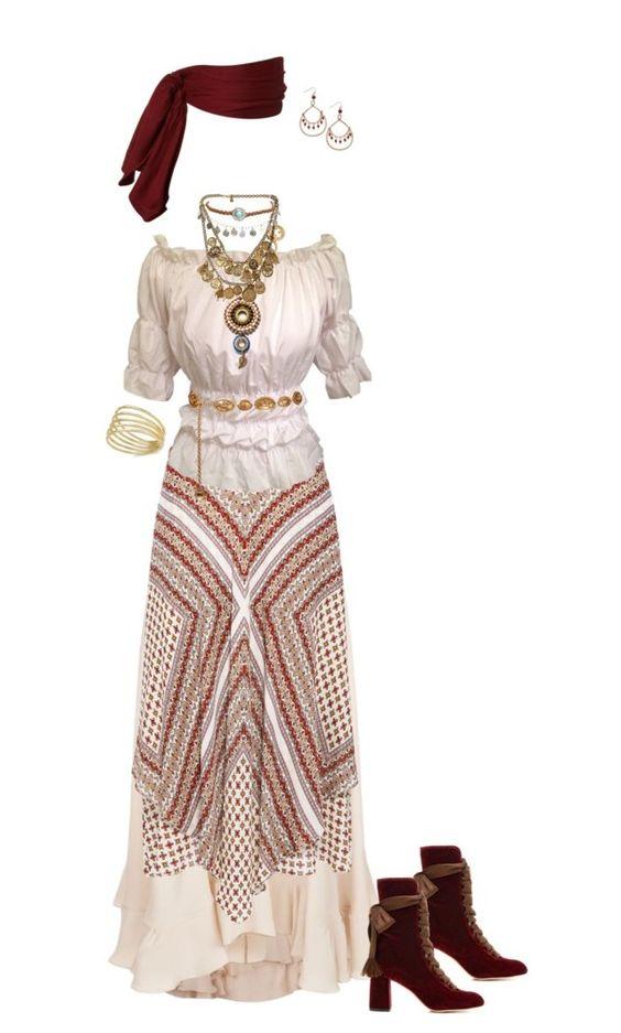 Outfit Boho Hippie Gypsy
