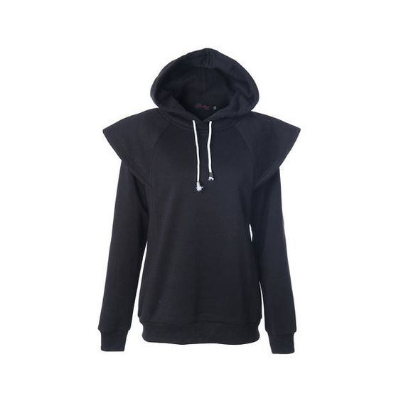 Casual Women Hooded Patchwork Pure Color Sport Sweatshirt ($24) ❤ liked on Polyvore featuring tops, hoodies, sweatshirts, black, women plus size tops, patterned sweatshirts, hooded top, hooded sweatshirt, sports sweatshirts and plus size womens hooded sweatshirts