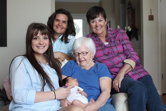 5 generations of lovely girls....age 95 years down to 17 days old. All the moms are T1s :)