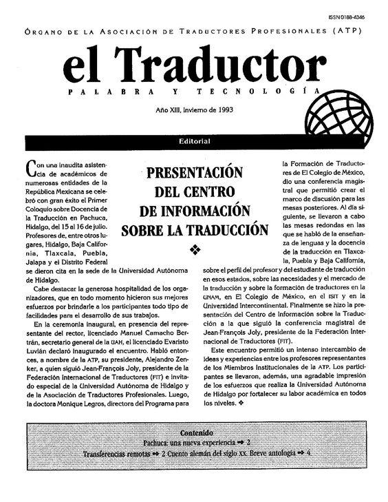 El Traductor by Solar, Servicios Editoriales, S.A. de C.V. / Ediciones del Ermitaño - issuu