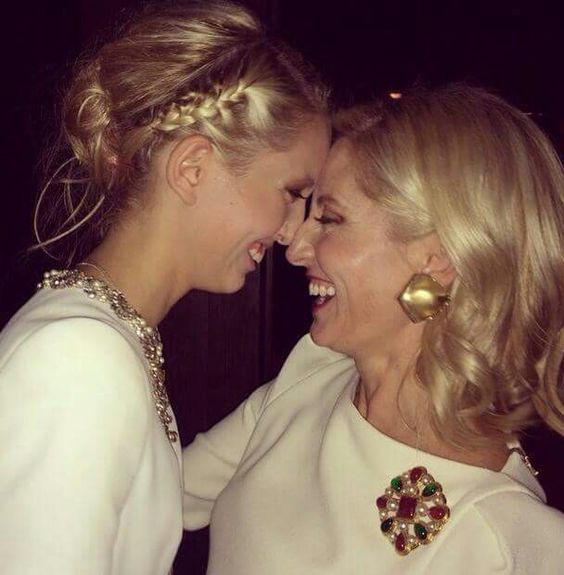 Princess Maria Olympia and her mother Crown Princess Marie Chantal of Greece