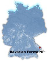 Map Bavarian Forest Germany