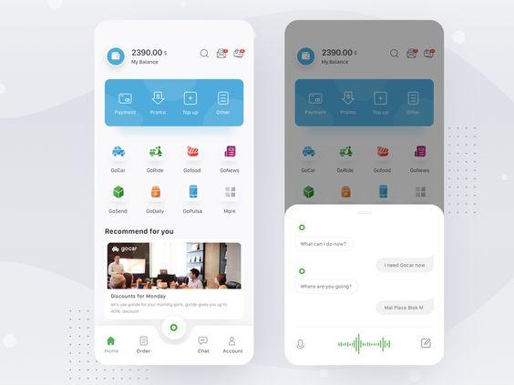 Gojek App Re Design Task Management App App Design Layout App