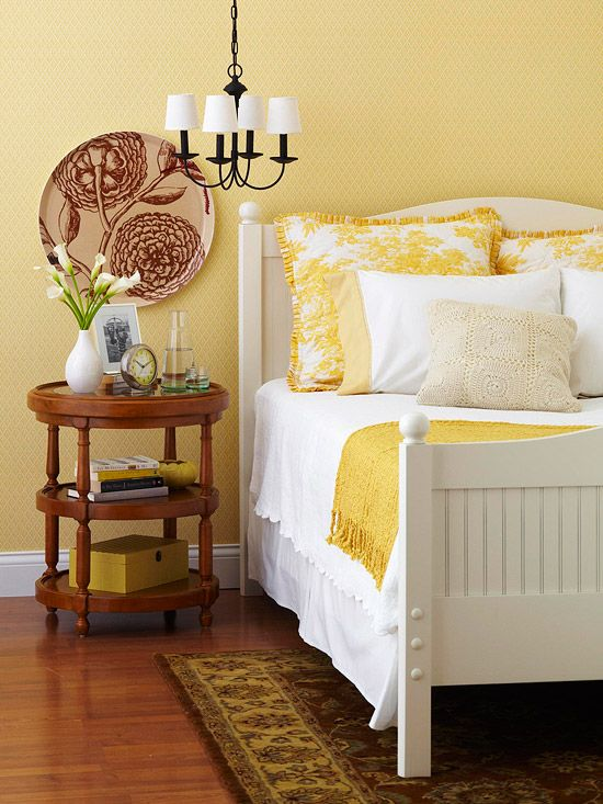 Yellow Bedroom.  Color lover yellow in decor Children s Sunshine and Bedrooms