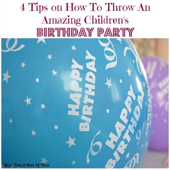 Throwing a great birthday party for your kids does not take alot of work just a little planning. By planning ahead of time will ensure everything will run smooth and your birthday child will have a birthday party to remember. #ad