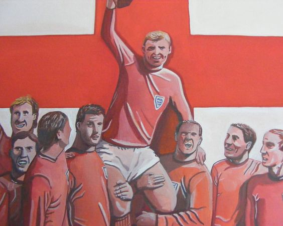 England 1966 World Cup Painting - #illustration #art #design