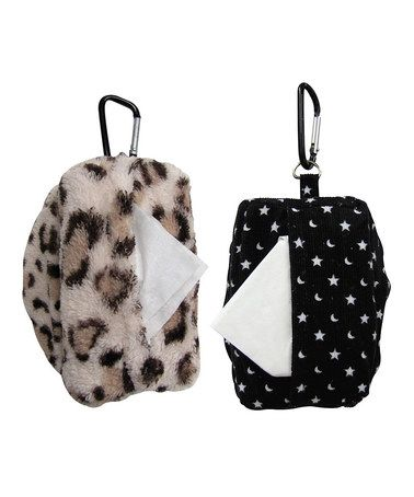 Look what I found on #zulily! Leopard & Moon Sniffle Duffel Set by Mom Invented #zulilyfinds