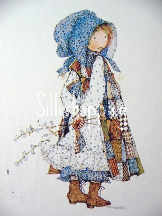 Vintage Holly HobbieBonnet Girl Toddler Sleeping Bag