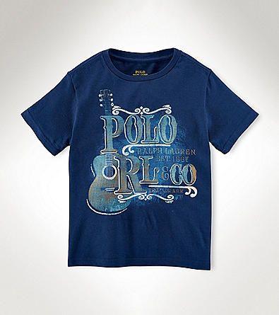 Ralph Lauren Childrenswear Boys' 2T-20 Short Sleeve Guitar Tee | Herberger's