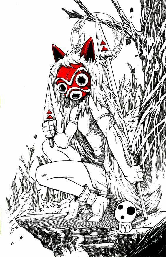 もののけ姫の仮面画像
