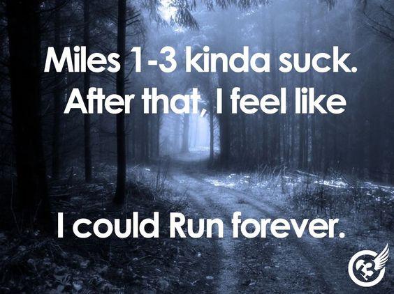 Los primeros kilómetros son horribles. Después de eso siento que podría correr para siempre.
