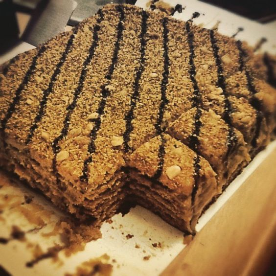 Marlenka honey cake