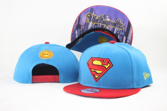 Superman Cartoon Snapback Hats