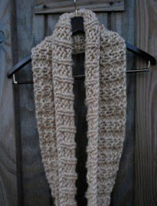 Knitting Patterns Scarf Size 19 Needles : With super bulky yarn and size 19 needles, the Easy Winter Infinity Scarf kni...