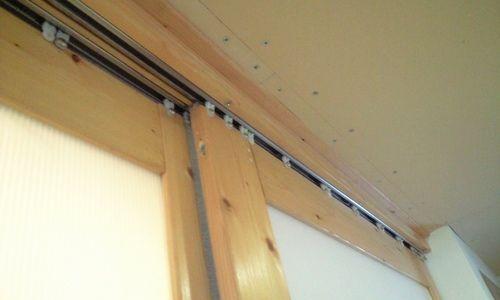 防寒吊り戸を作る 防寒対策 吊り戸 リフォーム 窓枠 引き戸 Diy