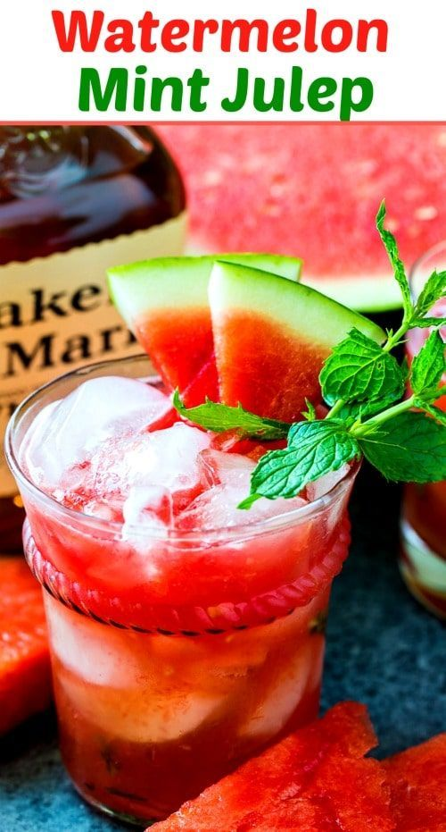 Watermelon Mint Julep Recipe Southern Comfort Watermelon