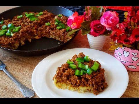 عشاء خفيف وسهل التحضير فطيرة البطاطا باللحم المفروم في المقلاة بدون فرن Youtube Food Beef Meat