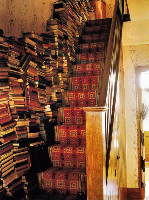 staircase + books
