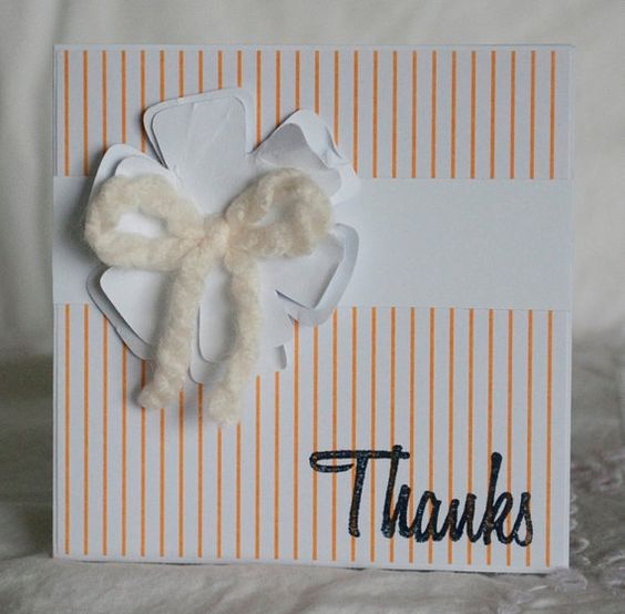 Handmade Thank You Cards Set 40 Orange Mini by CardinalBoutique, $70.00