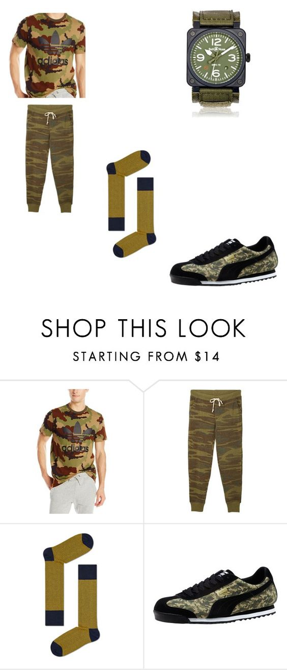 """""""pot head army"""" by jc-and-k-dot23 ❤ liked on Polyvore featuring adidas Originals, Puma, Bell & Ross, men's fashion and menswear"""
