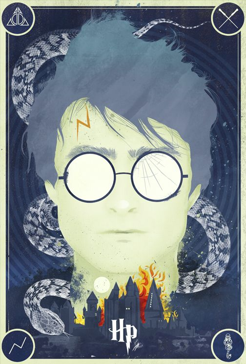 """""""Harry Potter: Goodbye Tribute Print"""" by Laz Marquez, who has done just an amazing job with a whole slew of prints from various film franchises. I wish he'd sell more of 'em."""