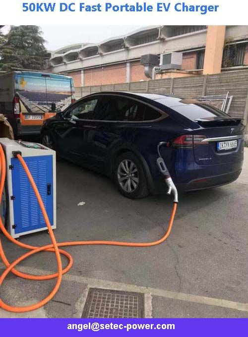 50kw Dc Fast Portable Ev Charger Ev Charger Ev Chargers Charger