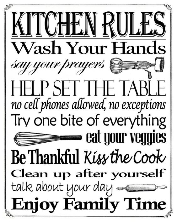 Kitchen Rules Sign: Kitchen Rules, Free Printable And Signs On Pinterest