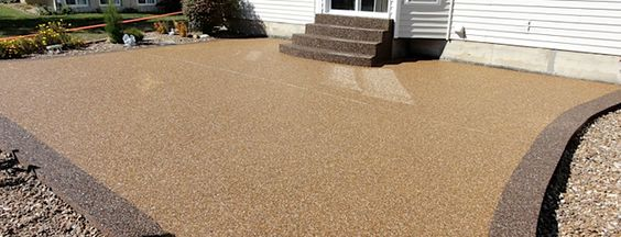 Concrete patio floor covering concrete resurfacing for Concrete floor covering ideas
