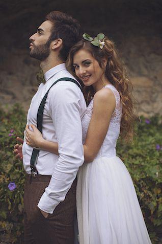 Bride and Groom Botanical shoot   Photography by Tiziana Gallo   Burnett's Boards