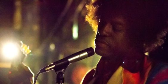 ANDRE 3000 TO PLAY JIMI HENDRIX Snapped shooting for the film, 3000 is looking good in one of Hendrix's flamboyant shirts.