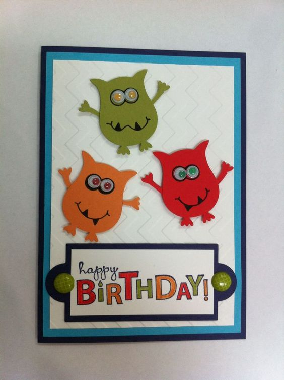 Owl punch Kids birthday cards and Birthday cards – Pinterest Stampin Up Birthday Cards
