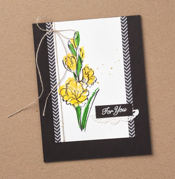 We love this bold color combination with these beautiful flowers. Gift of Love is one of the new host stamp sets from #stampinup. Contact your Demonstrator today to learn how you can earn your own set!: